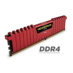 Corsair vengeance Lpx 8Gb Kit with Red low-profile heatsink , with 8-layer PCB , 4Gb x 2 kit CMK8GX4M2A2133C13R