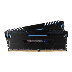 Corsair VenGeance DDR4-3000 16Gb Led ( Blue led ) - black heatsink , 8Gbx2 Dual kit CMU16GX4M2C3000C15B