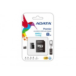 ADATA Premier AUSDH8GUiCL10-RA1 8Gb miCro SDHC ( 15x11x1mm ) with SD adapter