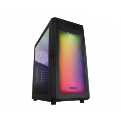 Raidmax Alpha Gaming Chassis RGB Black / Window Side Panel / Supports 120mm or 140mm Cooling Fans