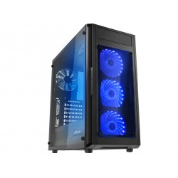 Raidmax Alpha Prime Gaming Chassis RGB Black / Tempered Glass Side Panel / Supports 120mm or 140mm Cooling Fans
