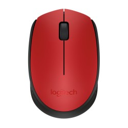 Logitech M171 cordless notebook mouse Red & Black 910-004641