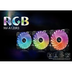 Raidmax NV-A120R3 3x 120mm RGB Fans with RF Remote control