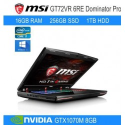 "MSI 17"" GT72Vr-6RE-017za dominator pro - i7 6700HQ + Nvidia GeForce 1070M 8Gb + 1Tb HD + 256Gb SSD + 16Gb DDR4-2133"