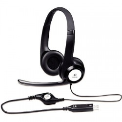 Logitech H390 usb stereo headset with rotating mic 981-000406